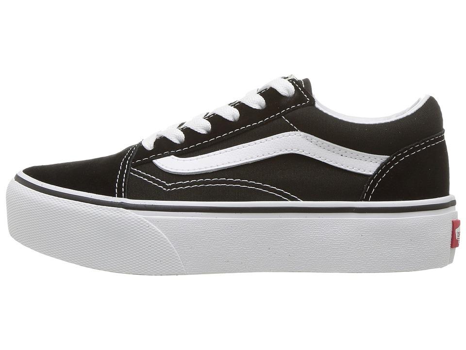 51df0d45d5cc3 Vans Kids Old Skool Platform (Little Kid/Big Kid) Girls Shoes Black/True  White