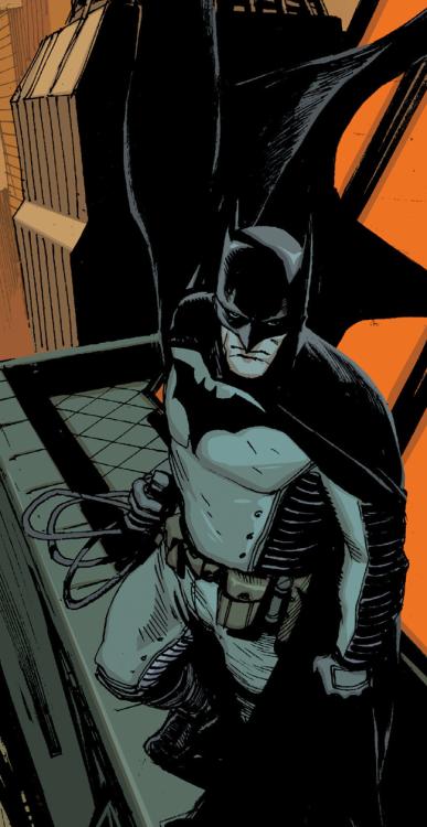 "Batman v2 #24 - ""Dark City"" (2013) pencil by Greg Capullo, & Rafael Albuquerque / ink by Danny Miki, & Rafael Albuquerque / color by FCO Plascencia, & Dave McCaig"