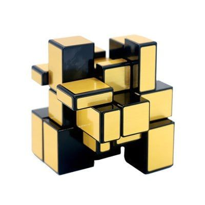 Toys & Hobbies Puzzles & Games Speed Puzzle Gold And Silver Creative Irregular Mirror Magic Cube