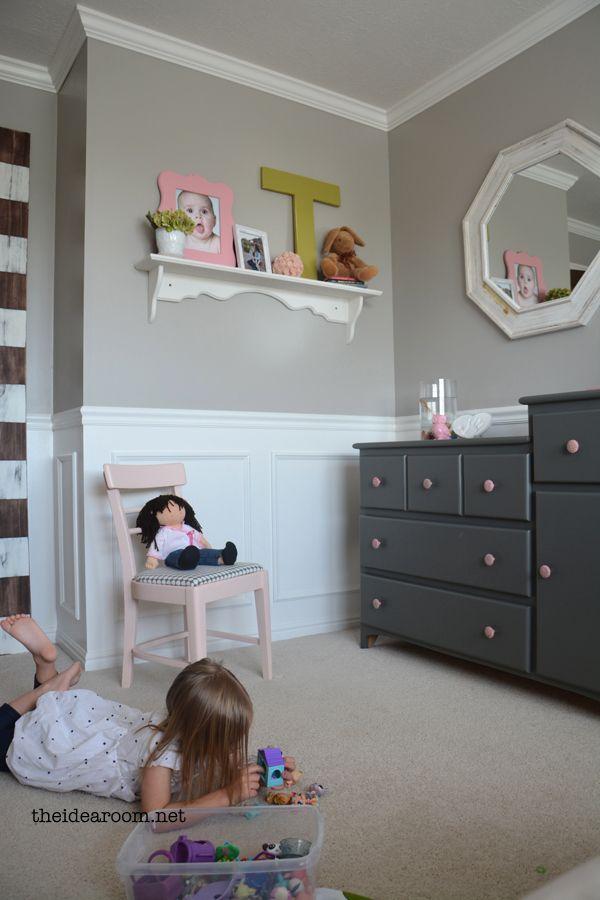 Sweet Girls Room Reveal | theidearoom.net