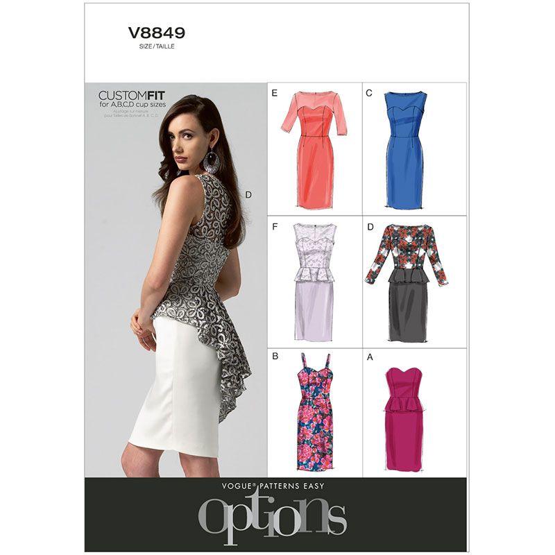Misses Petite Dress Vogue Pattern 8849. | patterns | Pinterest ...
