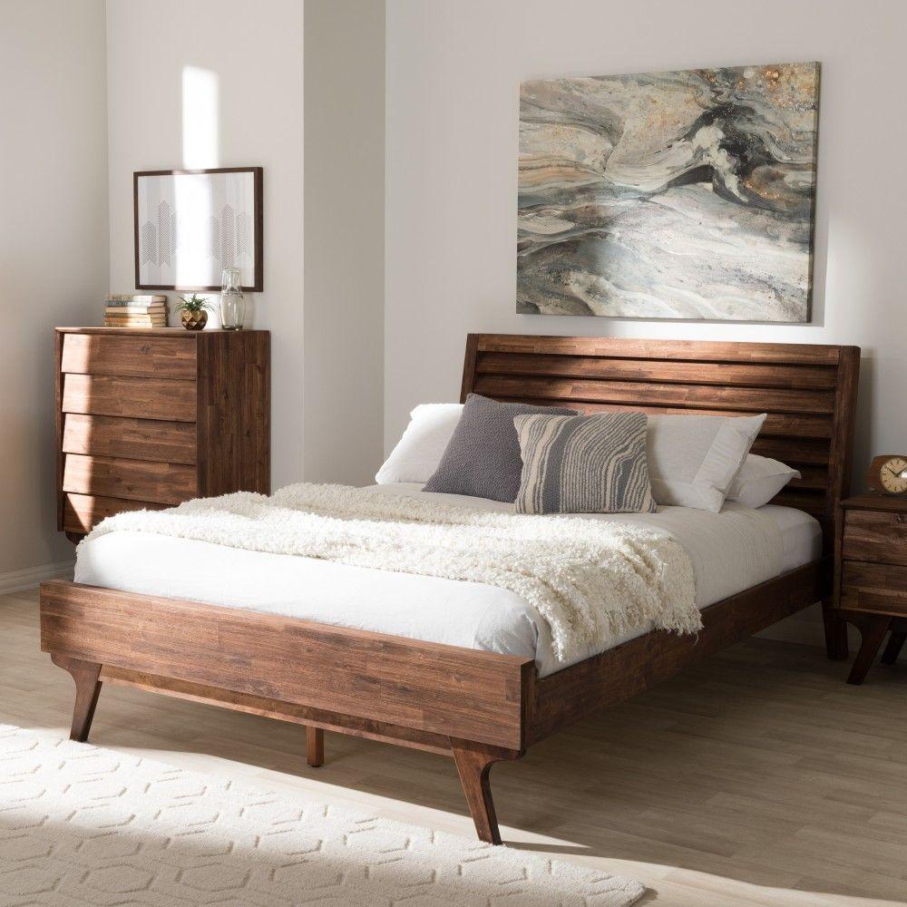 Best Baxton Studio Sierra Rain Oak Queen Sierra Mid Century 400 x 300