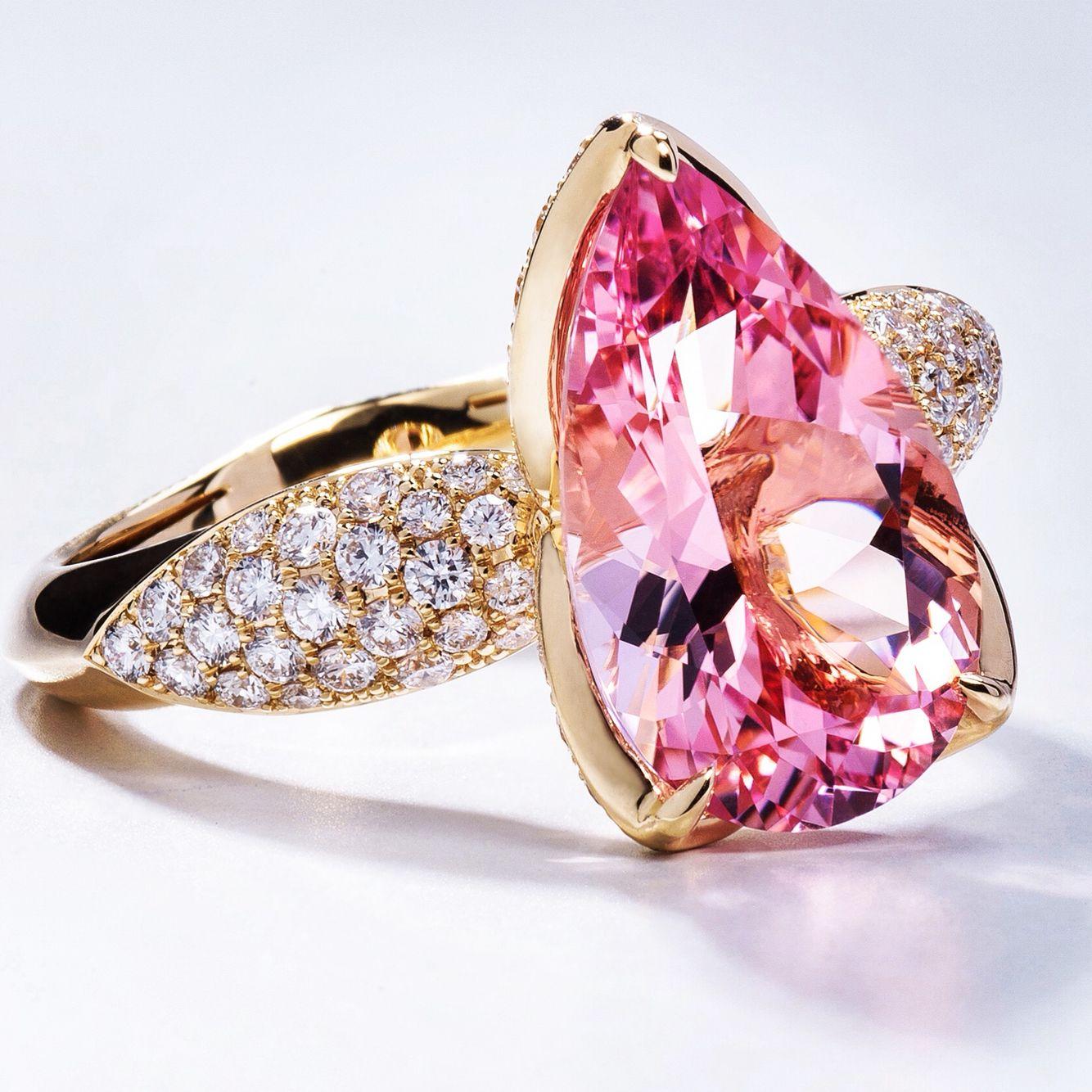 Kat Florence Pink Morganites blossom as brilliant cut D Flawless ...