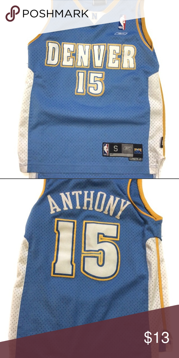 online store ed058 210f5 BOGO ** Denver nuggets carmelo Anthony jersey Number 15 ...