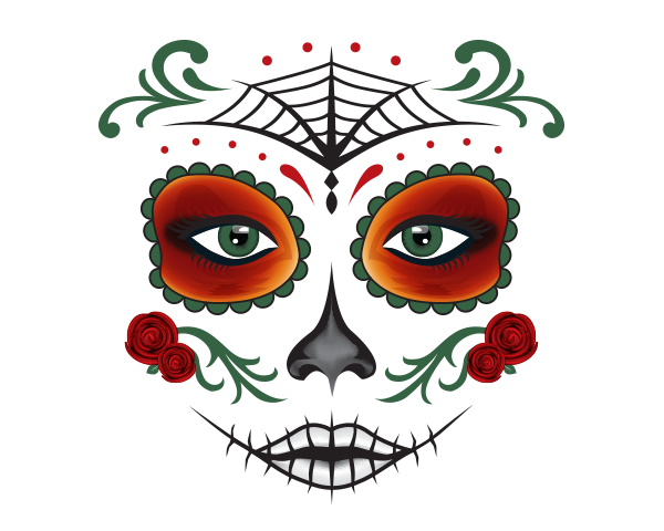 Day Of The Dead Theme Mask Dayofthedead Heatheradesign Day Of The Dead Day Of The Dead Mask Colorful Art