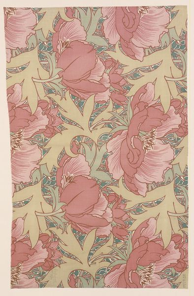 Poppies, Roller-printed Cotton, 1901 | Lindsay Phillip Butterfield | V&A