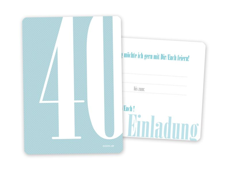 20x einladung zum 40 geburtstag von millimi auf einladung pinterest. Black Bedroom Furniture Sets. Home Design Ideas