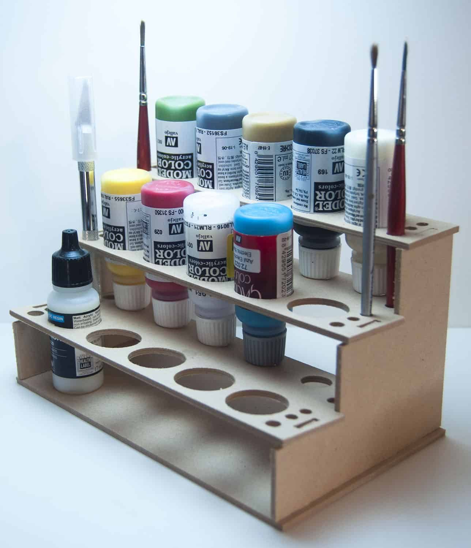 15 Bottle Paint Rack Holder For Vallejo Reaper Paints In