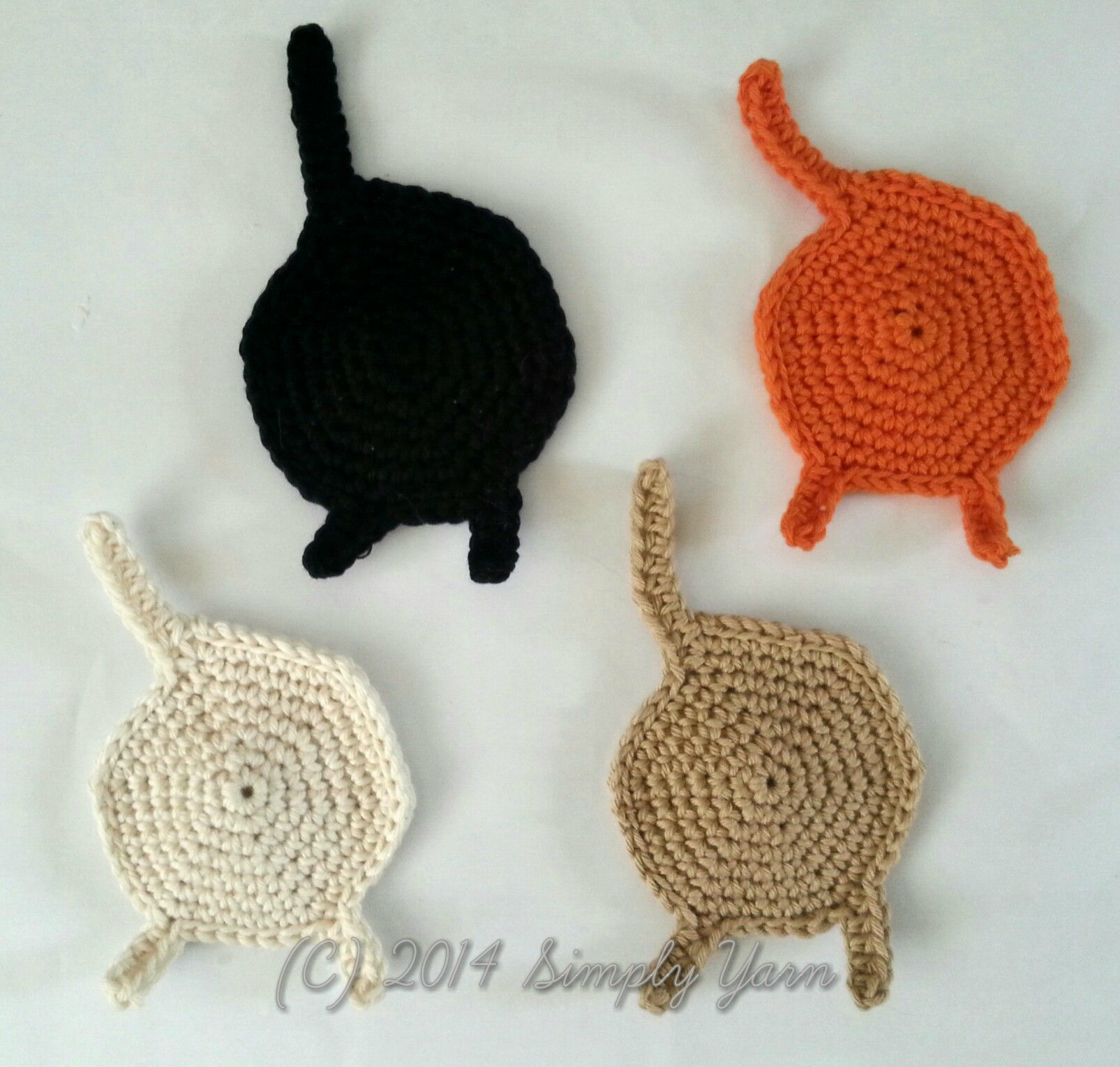 Cat coasters, because you never have enough cat themed stuff around ...