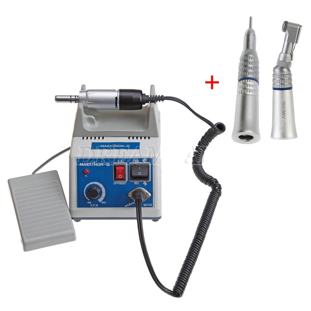 103.55$  Watch now - http://alih9t.worldwells.pw/go.php?t=32732208893 - 2016 New Dental Lab Marathon Electric Micro Motor Contra Angle Straight Handpiece 103.55$