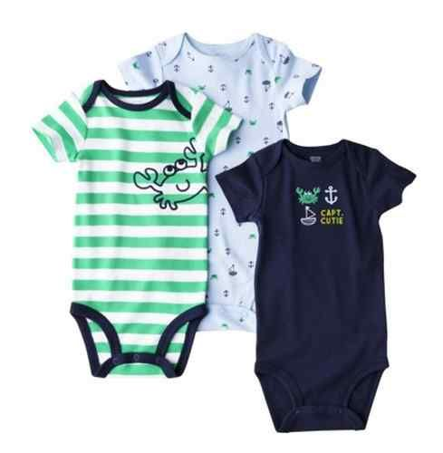 d55b3e7badb NWT Carters Baby Boy Clothes 3 Pack Bodysuits Blue Green Crab 9m 6-9 ...