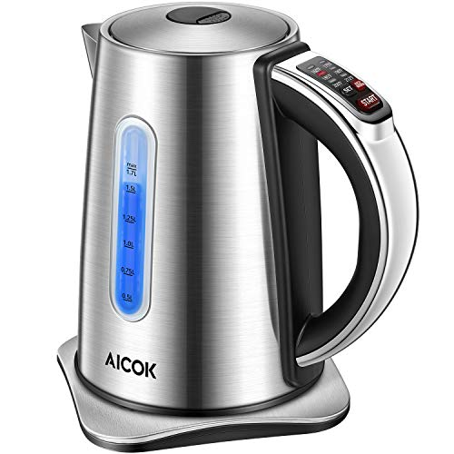 Cuisinart PerfecTemp 1.7L 1500W Stainless Steel Cordless LED Electric Tea Kettle