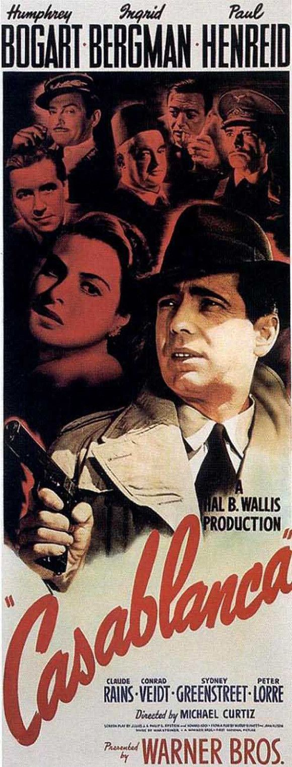 Casablanca 14x36 Movie Poster (1942) | Pinterest | Plakate