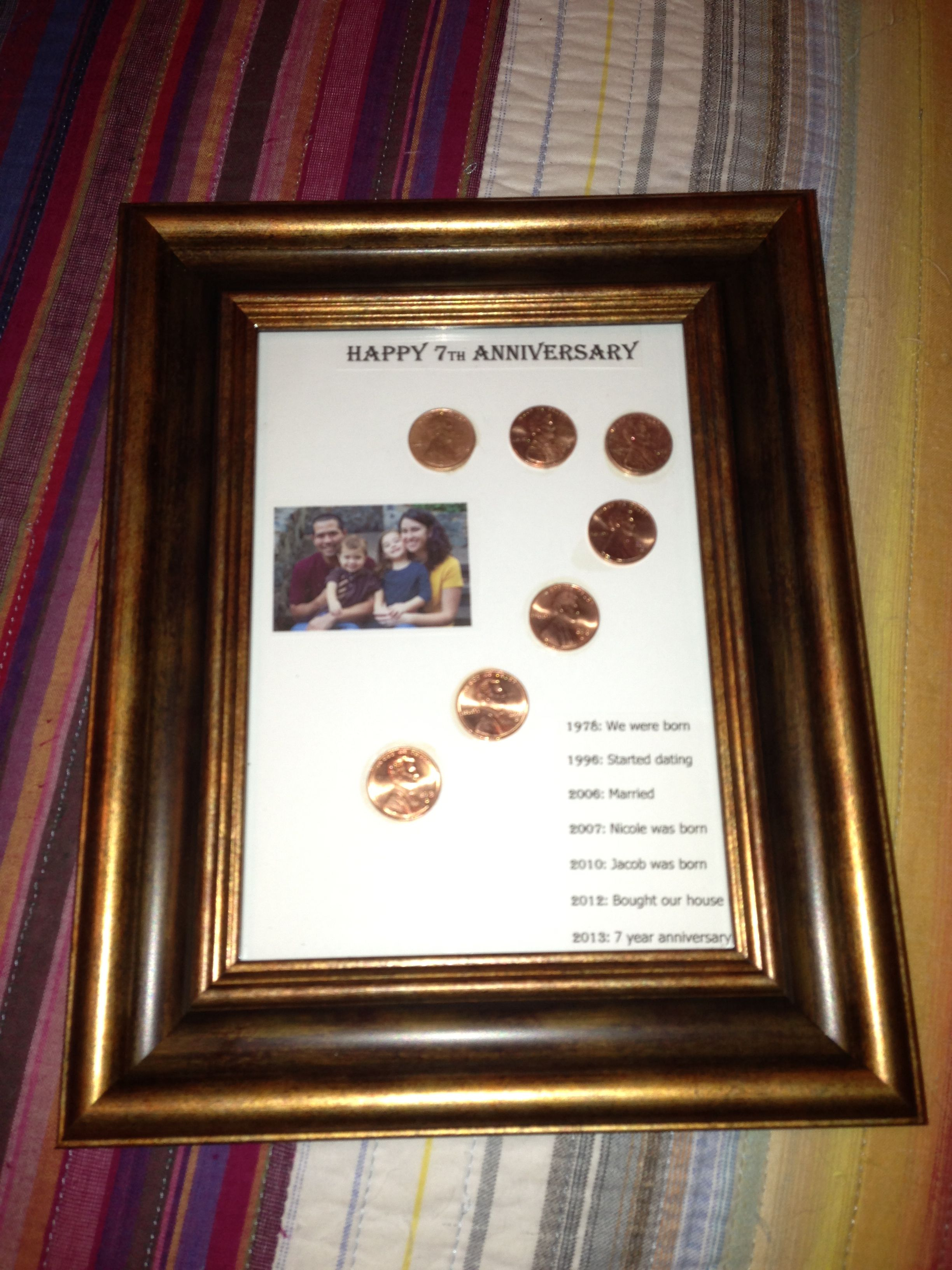 7 year wedding anniversary traditional gift is copper