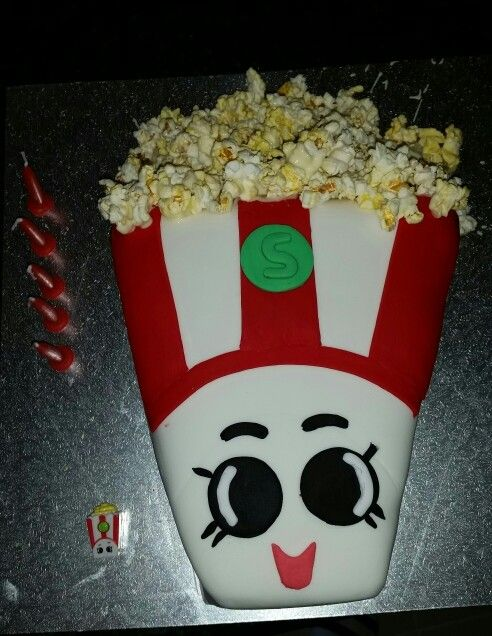 Shopkins Popcorn Birthday Cake