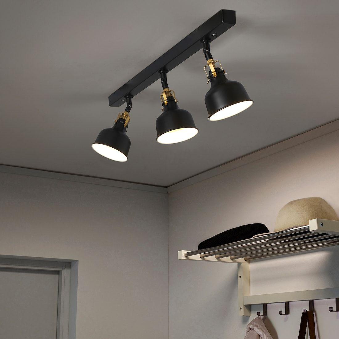 RANARP black, Ceiling track, 3 spots IKEA i 2020
