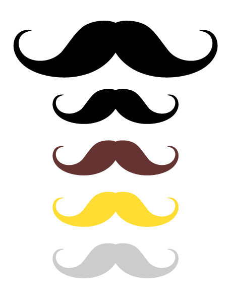 Printable handlebar mustache photo booth prop. Create DIY props with ...