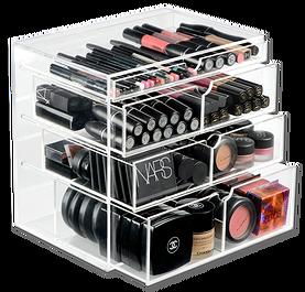 Ranger ses produits de beaut rangement maquillage rangements maquillage rangement - Meuble plexiglas transparent ...