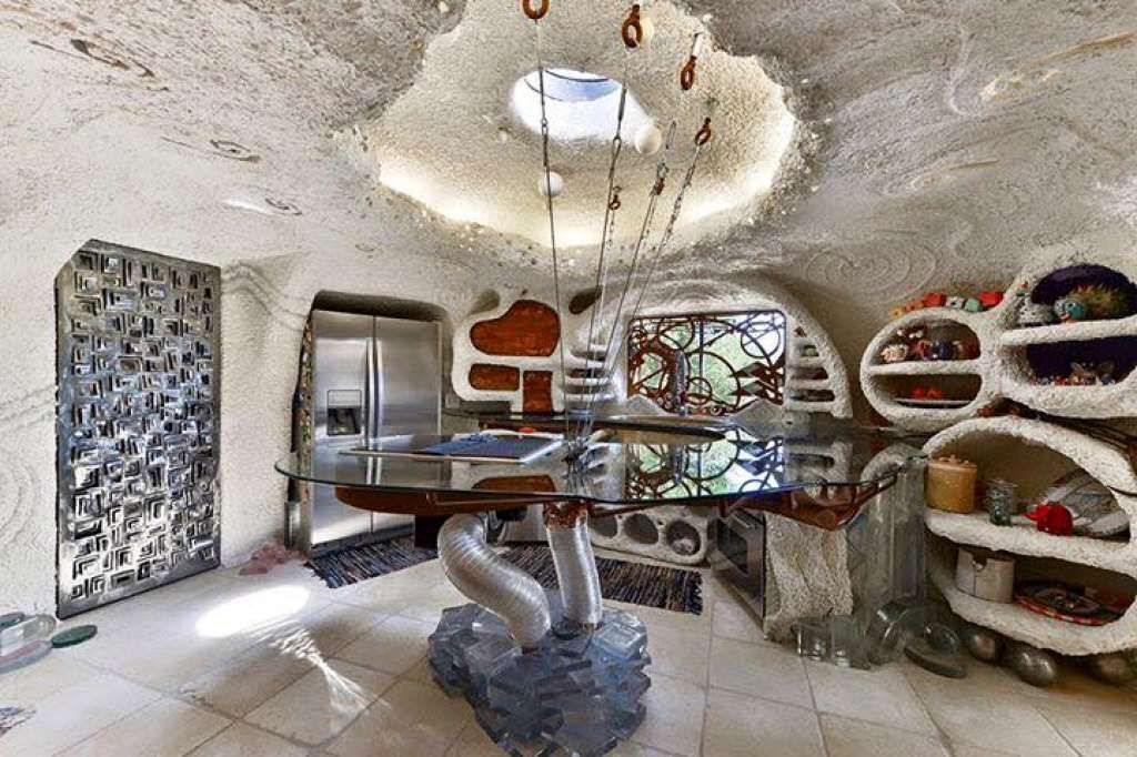 The Flintstone House Was Built By Spraying Concrete Onto Wire Mesh
