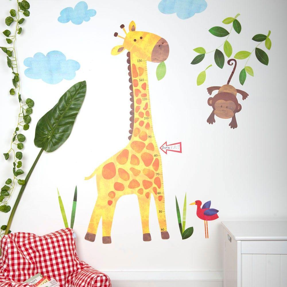 Giraffe Height Chart Wall Decals | JoJo Maman Bebe | JoJo Nursery ...