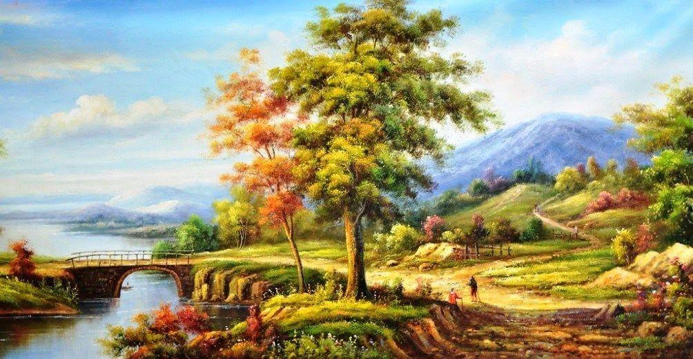 Paling Hits 30 Lukisan Pemandangan Gunung Dan Sawah Download Cara Menggambar Pemandangan Alam Agar Hasilnya Bagus Downl Di 2020 Pemandangan Lukisan Cat Air Lanskap