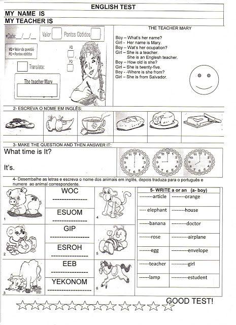 Atividades Diversas Claudia Ingles 2 Atividades De Ingles Ensino