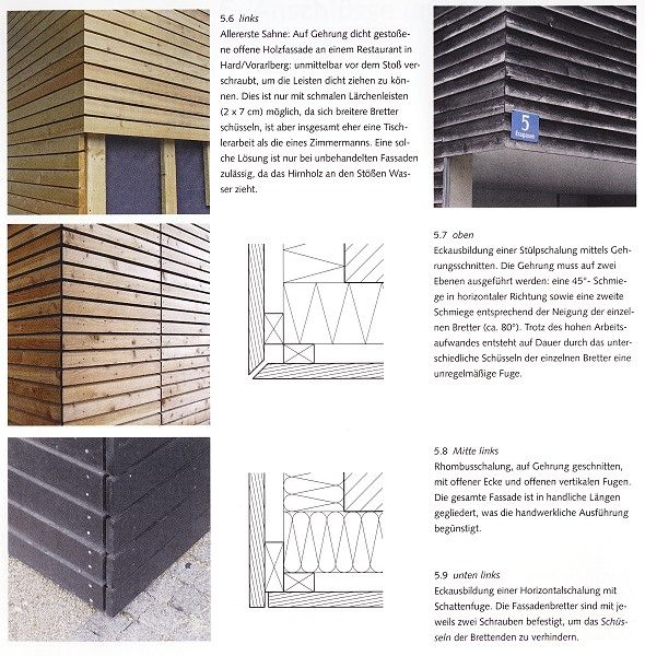 zeichnung gedmmte holzfassade details t holzfassade. Black Bedroom Furniture Sets. Home Design Ideas