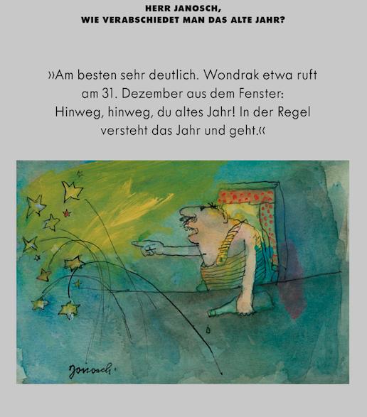Herr Janosch Wie Verabschiedet Man Das Alte Jahr Janosch Herr Janosch Neujahrswunsche