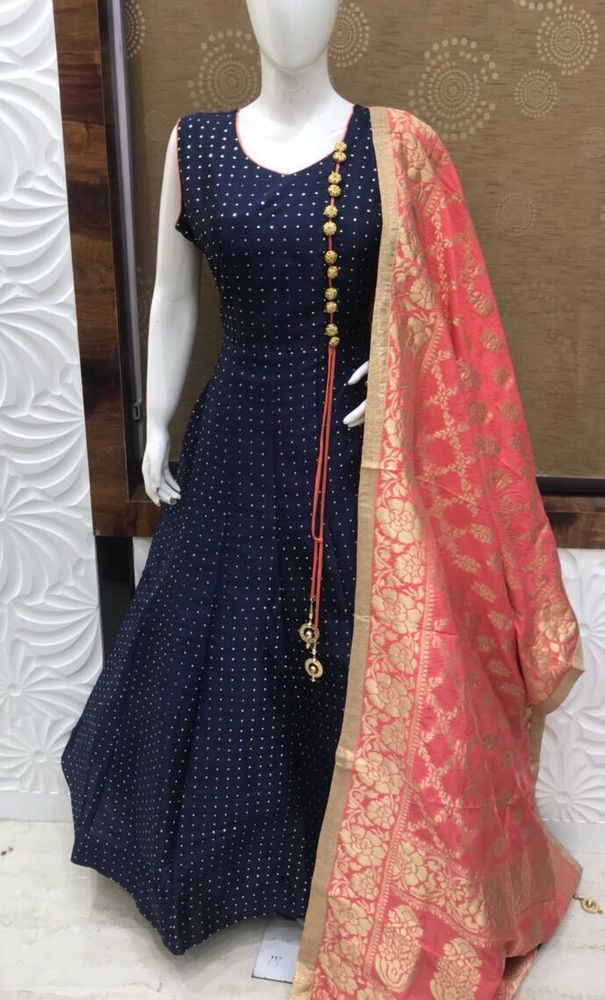 8b0b14bacca Indian long gown pakistani designer wedding wear bollywood embroidery dress  ebay also rh pinterest