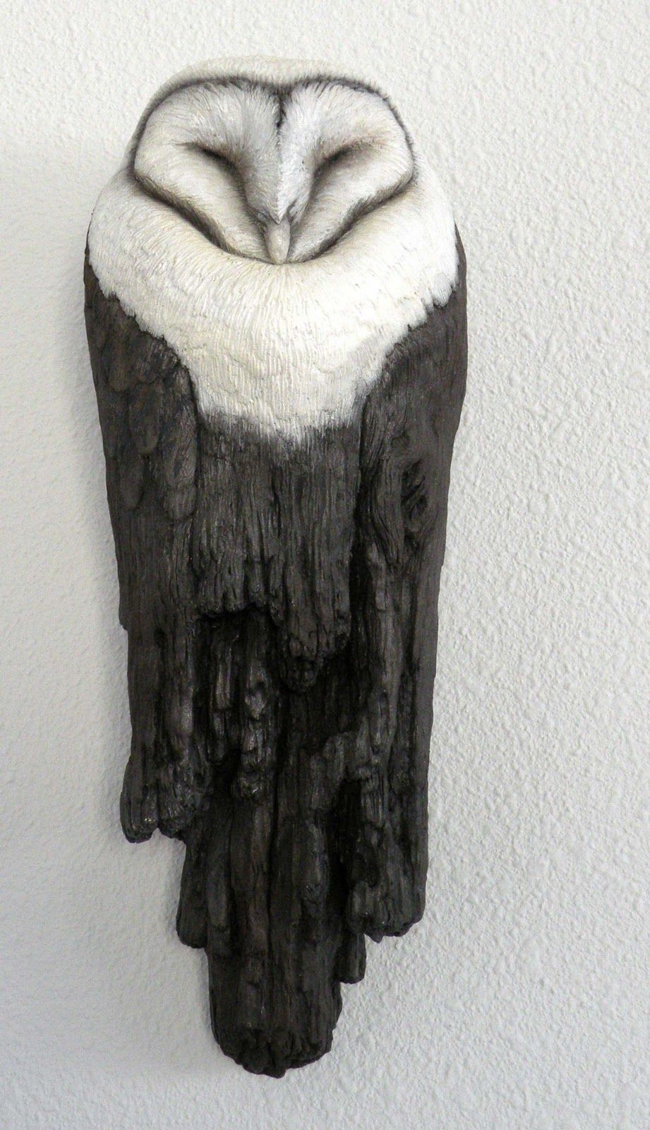 Leeanne Hale Art Wood Owl Ceramic