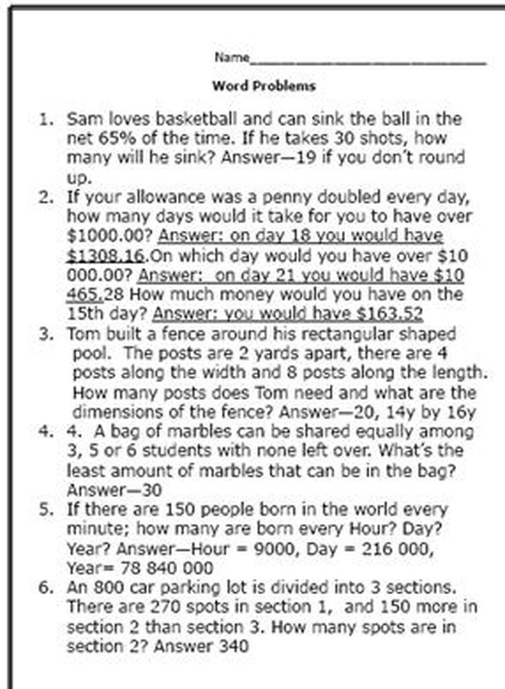 Practice Your Math Skills With These 7th Grade Worksheets ...