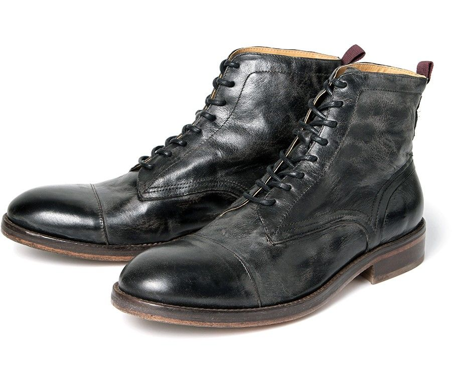 Explore Men's Boots, Black Boots, and more! Men's Palmer (Black) Washed  Leather Ankle Boots | H Shoes