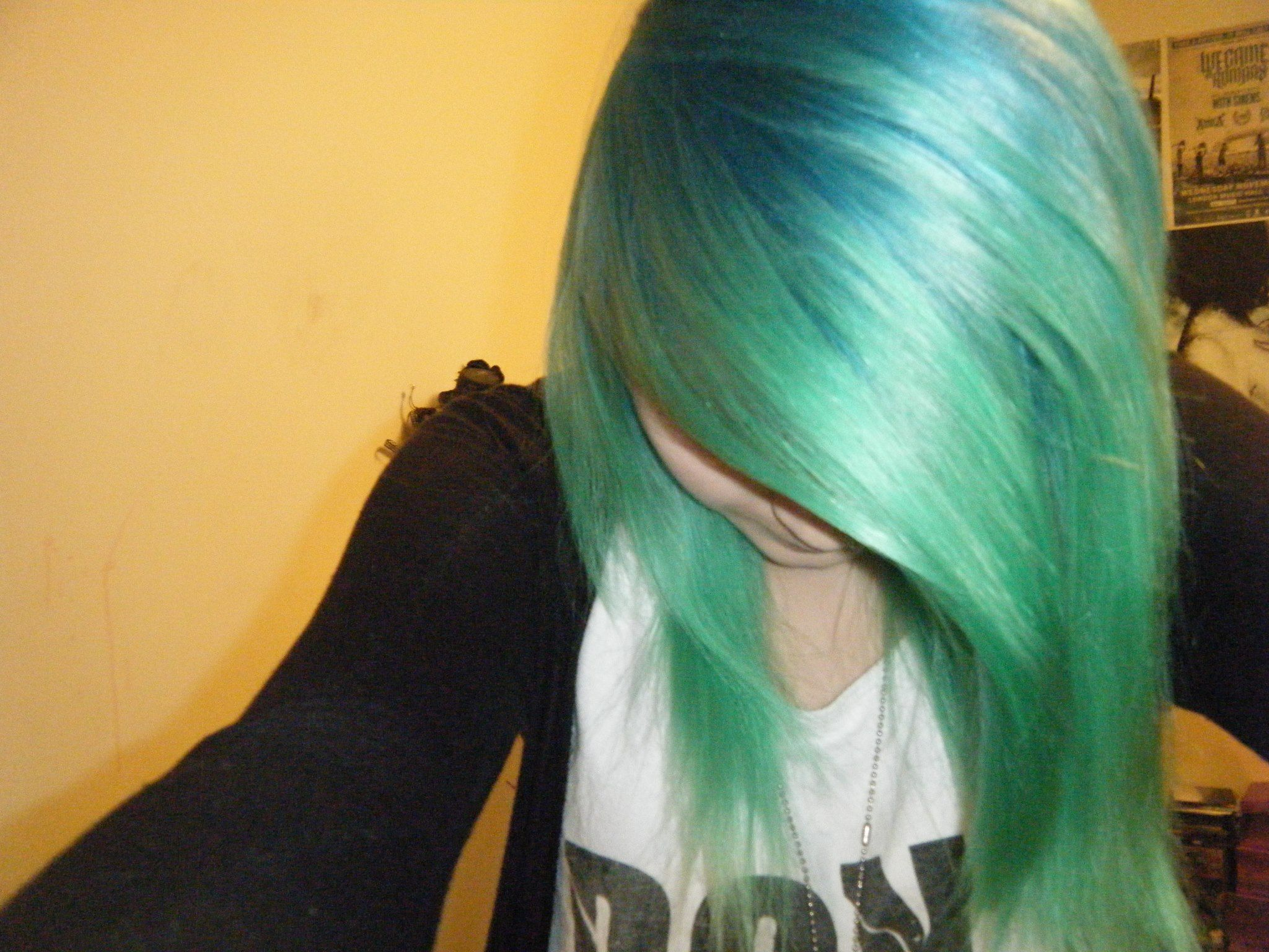 Splat Neon Green And Aqua Rush Punky Hair Green Hair Hair Envy