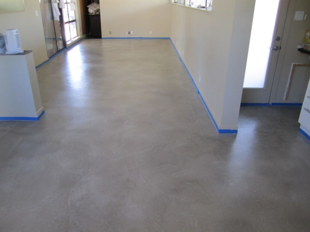 Gray Concrete Flooring : Grey stained concrete floors thefloors