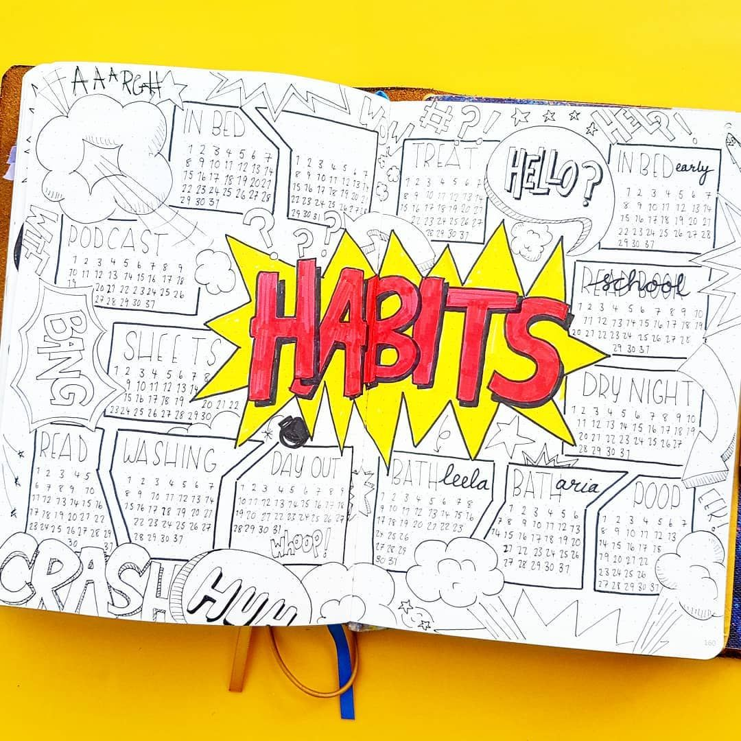 17 Fantastic comic book bullet journal spreads for geeks #comicbooks
