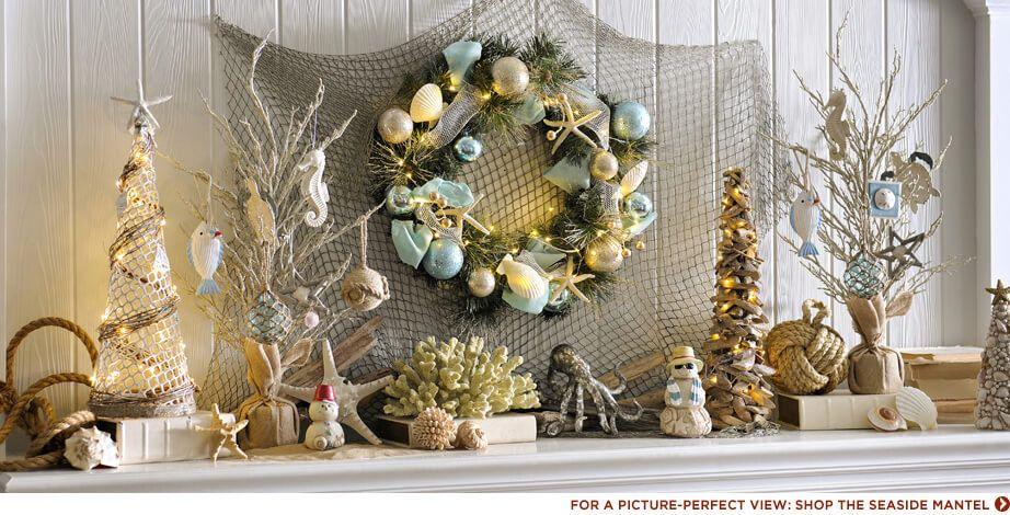 Shop this Mantle christmas Pinterest Coastal christmas, Mantle - coastal christmas decorations