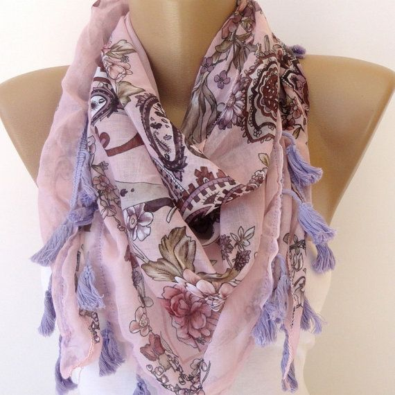Aztec scarf, women cotton scarf, cowl scarf, scarfs scarves , purple , seno scarf #mensscarves