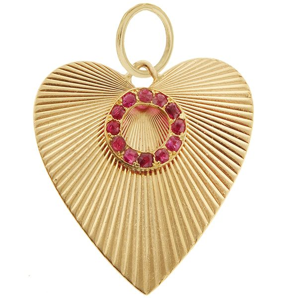 Lovely 14k Victorian Style Heart Charm