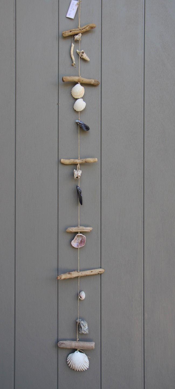 Suspension style bord de mer en bois flott et divers - Suspension bois flotte ...