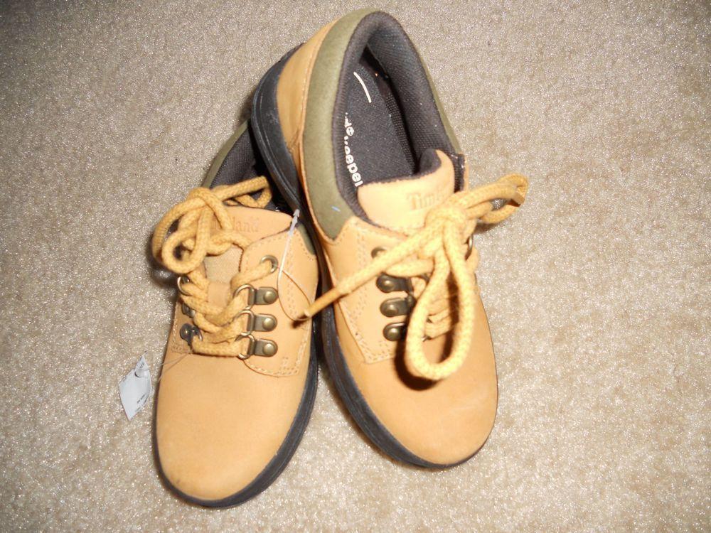 c2e490255662 BOYS TIMBERLAND TREKKER BOOT CRASH BLAST GENUINE LEATHER NWT Size 2.5 Laces   Timberland  Boots