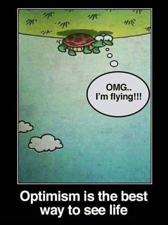 It's the brighter side of life. :) #optimism #meme ...