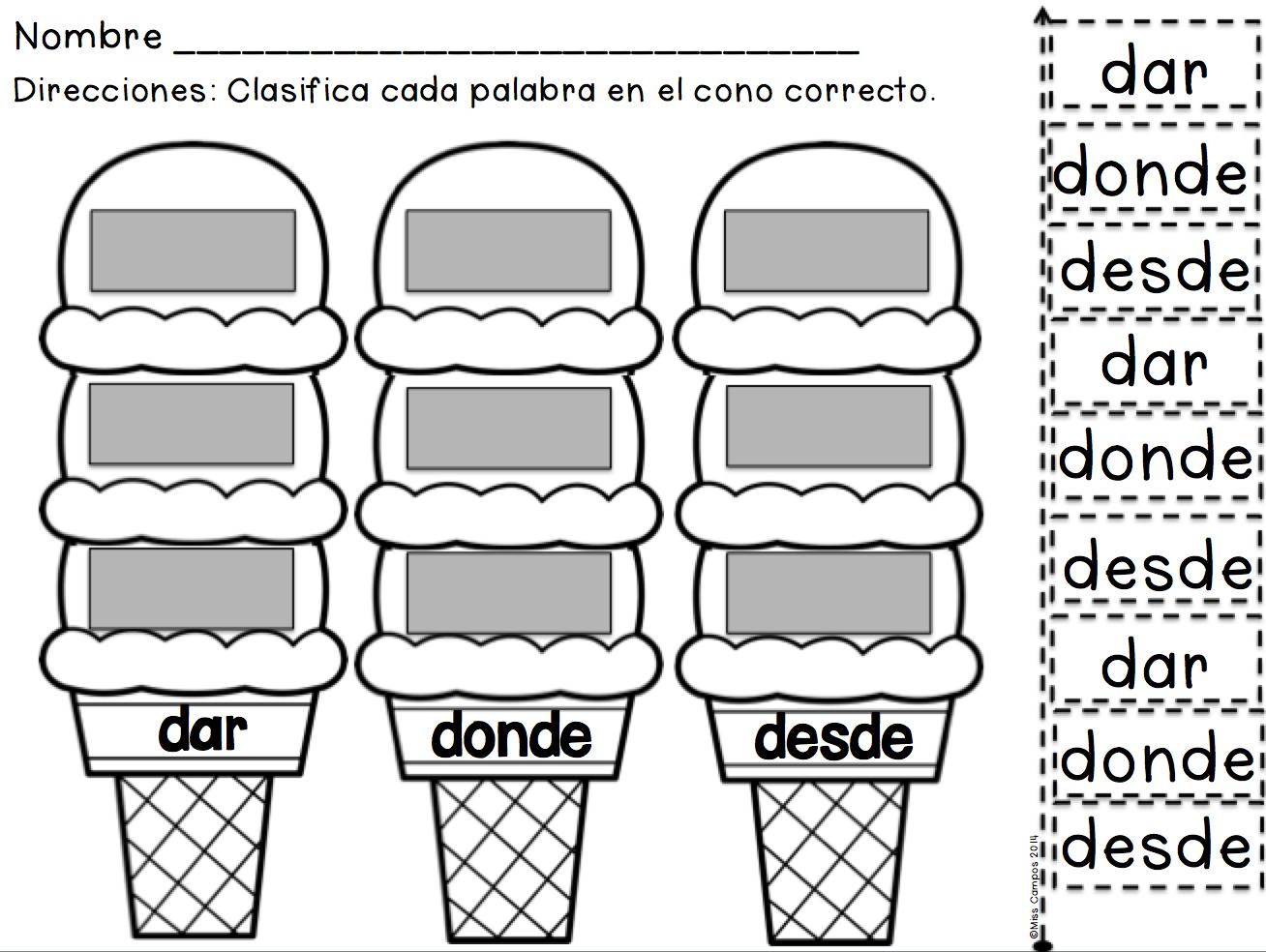 Editable Sight Word Work Palabras De Alta Frecuencia