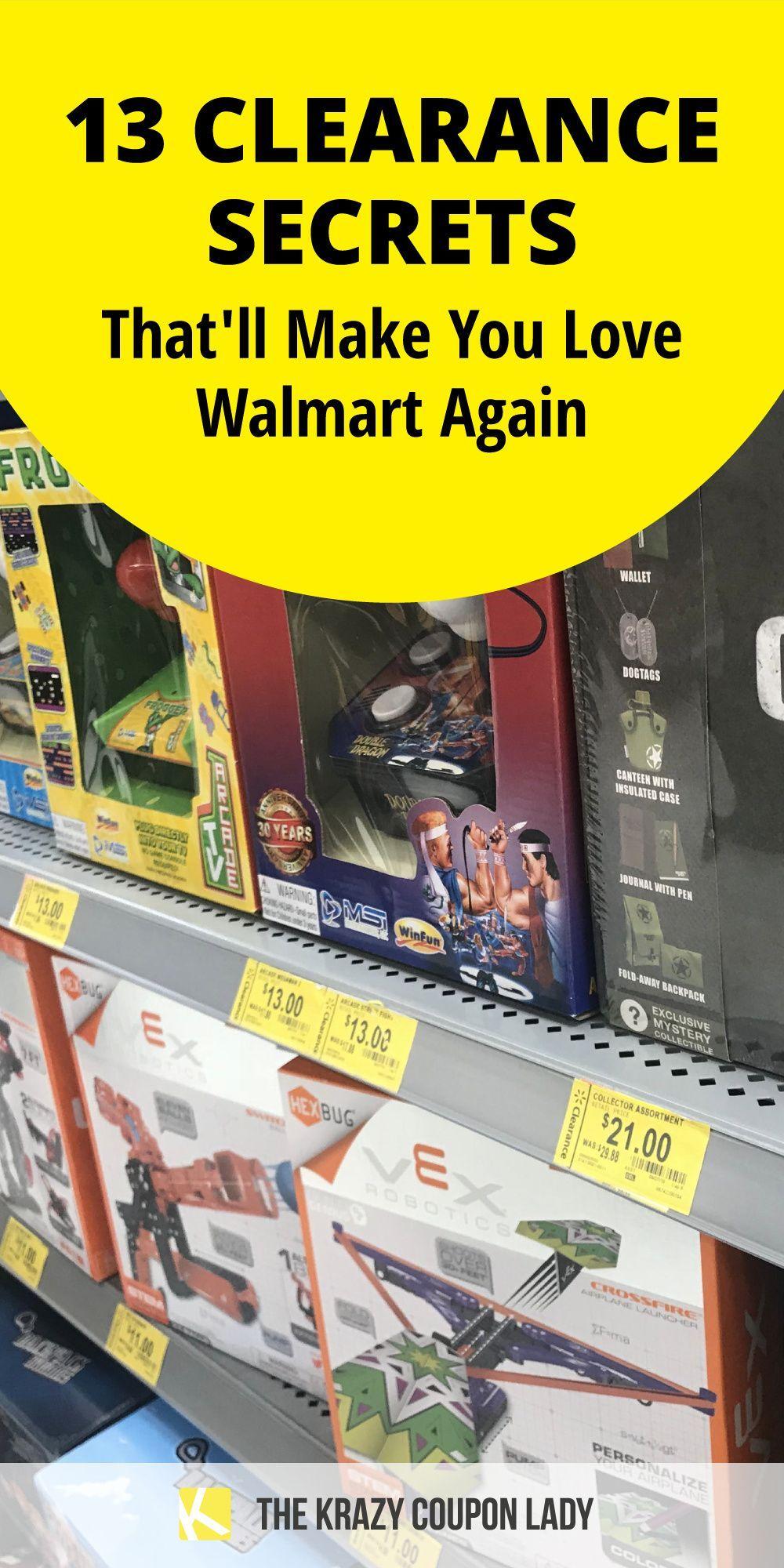 13 Clearance Secrets That Ll Make You Love Walmart Again Walmart Clearance Walmart The Krazy Coupon Lady