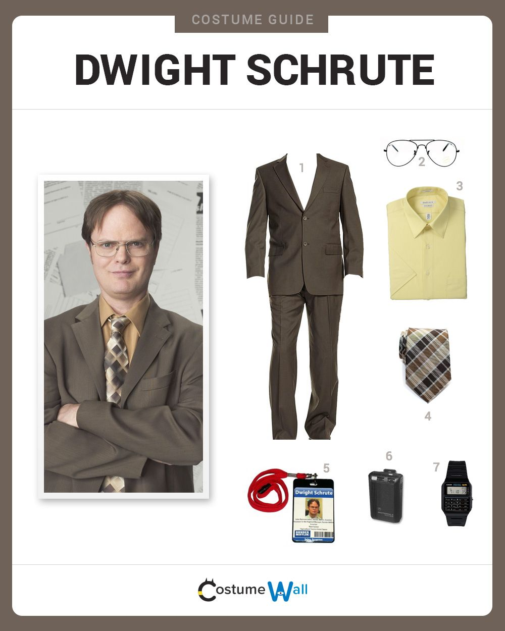 dress like dwight schrute dwight schrute costumes and. Black Bedroom Furniture Sets. Home Design Ideas