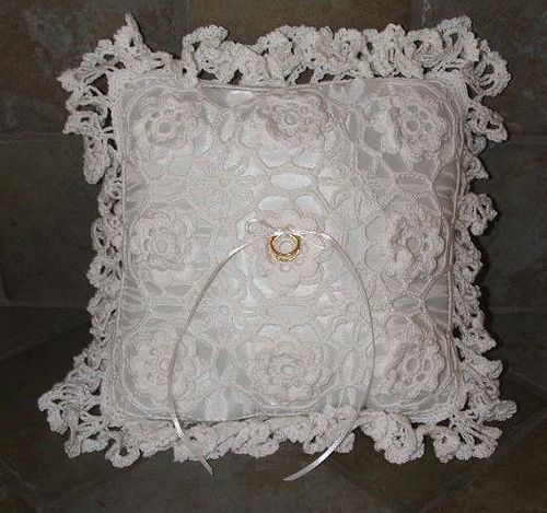 Crochet Ring Bearer Pillow Ring bearer pillows Ring bearer and