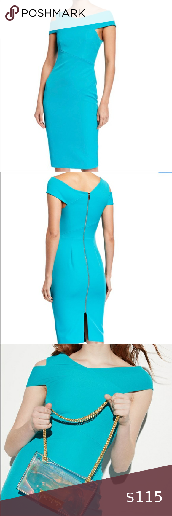 Nwt Ted Baker Turquoise Yandal Bodycon Dress In 2021 Printed Sweater Dress Bodycon Dress Striped Bodycon Dress [ 1740 x 580 Pixel ]