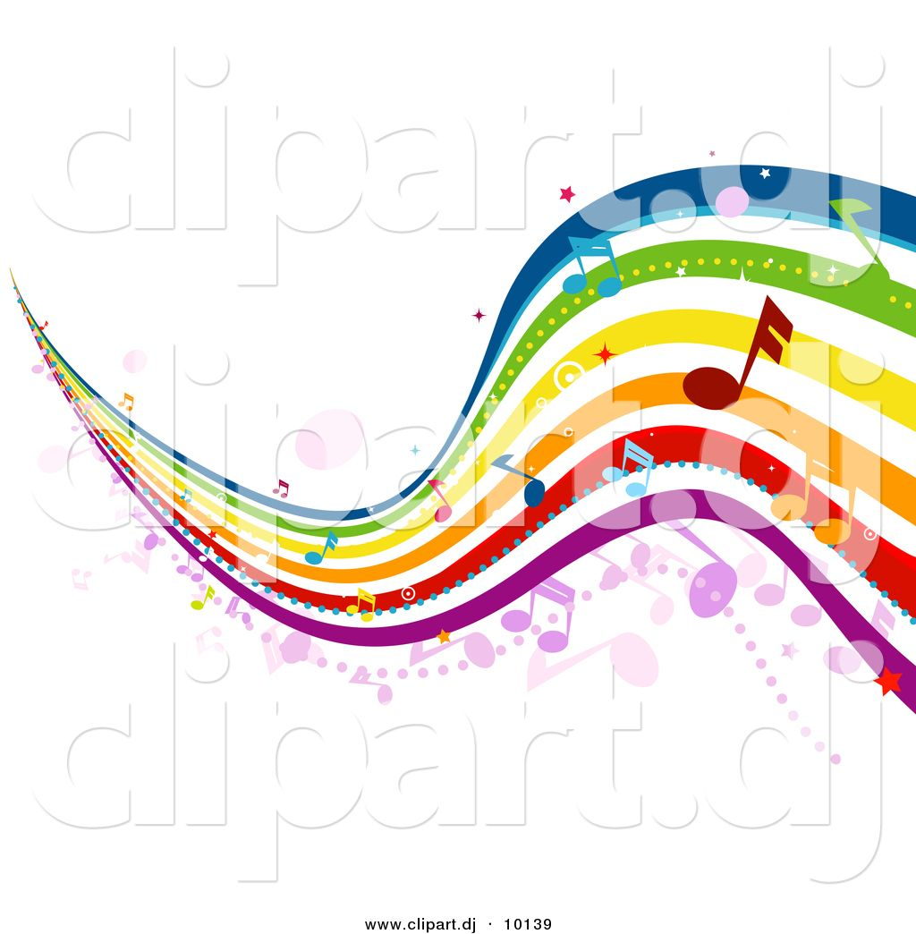 music notes clip art vector clipart of musical rainbow waves with rh pinterest com musical clipart free musical clip art border