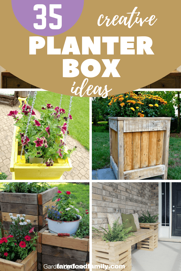 35 Creative Diy Pallet And Wood Planter Box Ideas For Your 400 x 300