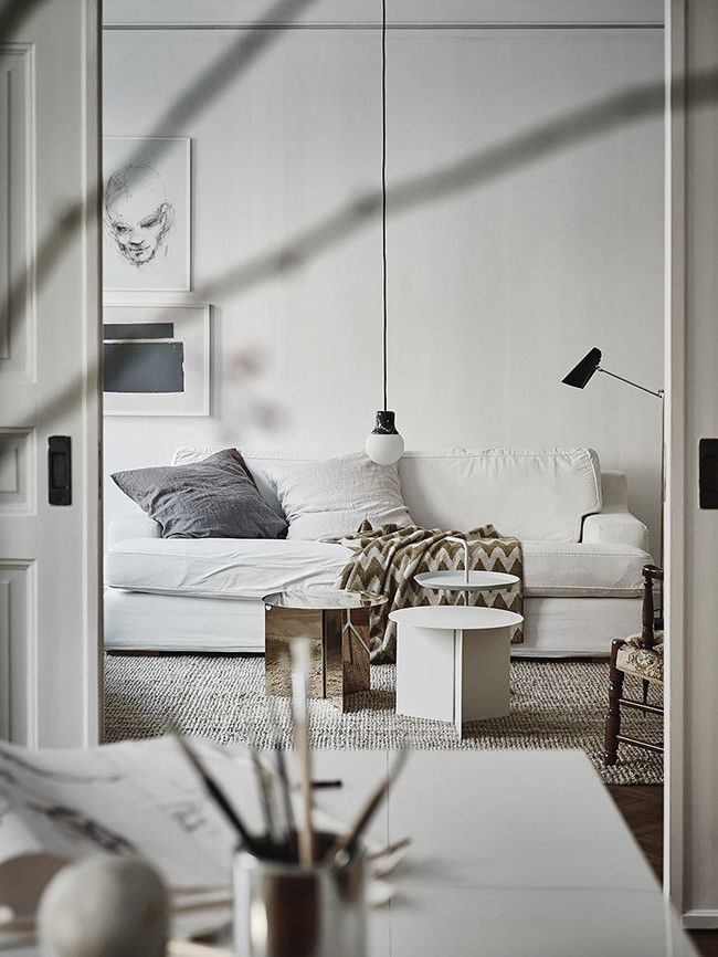 Inside a Monochrome Scandinavian Apartment Step Inside