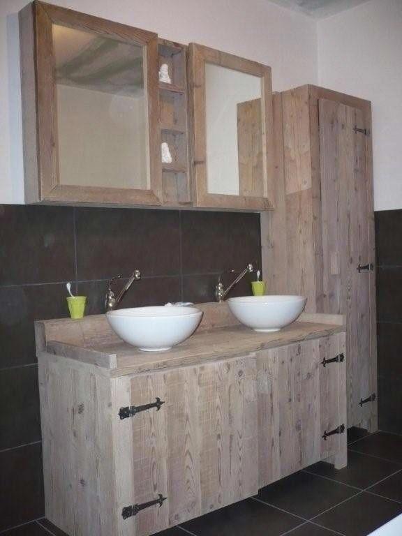 badkamer kast spiegel zelf maken - Google zoeken | Powder Room ...
